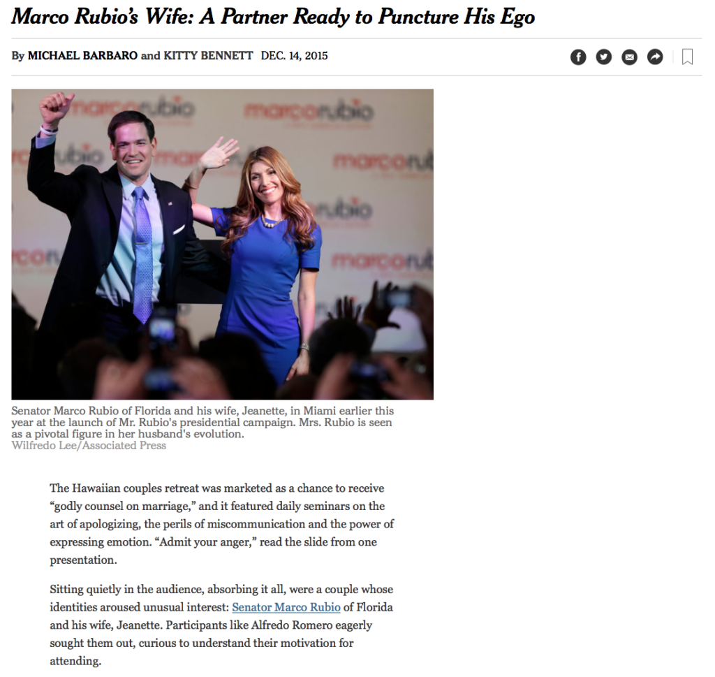 Marco Rubio\'s Wife: A Partner Ready to Puncture His Ego – Lotus ...